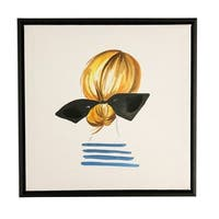Boston Warehouse 12x12 Framed Canvas Art, Girl With Ponytail