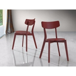 Roma Contemporary Wood Dining Chairs, Set of 2