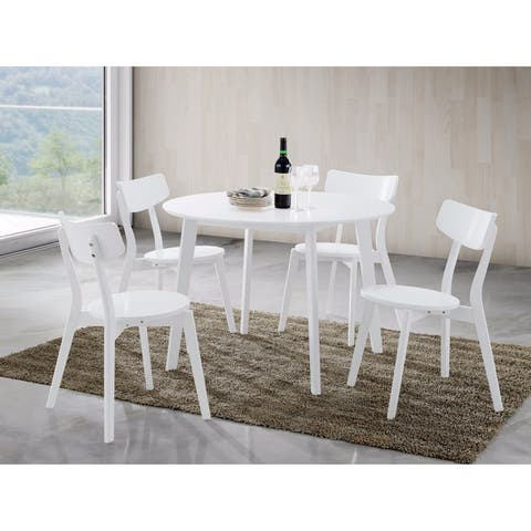 Carson Carrington Vihalsen Contemporary 5-PC Wood Dining Set