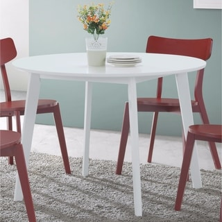 Attrayant Roma Contemporary White Round Dining Table