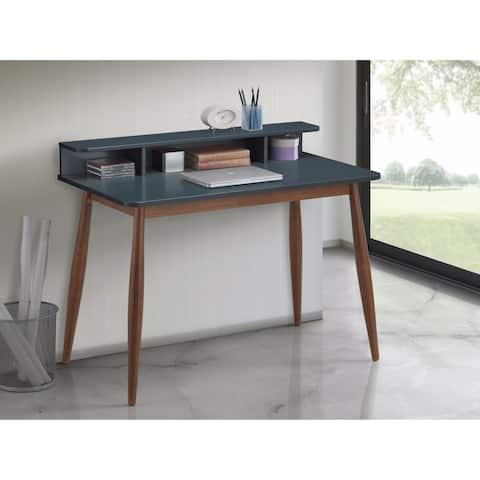 Roskilde Gray Blue Storage Wood Office Desk