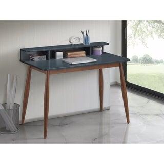 Link to Roskilde Gray Blue Storage Wood Office Desk Similar Items in Computer Desks