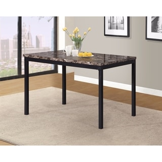 Link to Noyes Metal Dining Table with Laminated Faux Marble Top - Black Similar Items in Dining Room & Bar Furniture