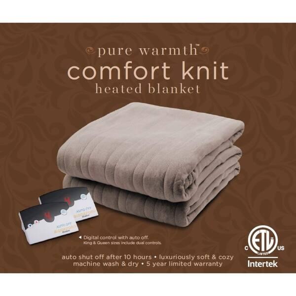 Shop Pure Warmth By Biddeford Fleece Electric Heated Blanket Twin Grey Overstock 18656859