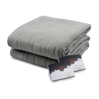Pure Warmth by Biddeford Fleece Electric Heated Blanket Queen Grey