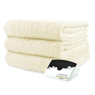 Pure Warmth by Biddeford MicroPlush Electric Heated Blanket Full Creme