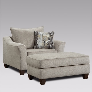Link to Camero Contemporary Fabric Accent Chair and Ottoman Set Similar Items in Living Room Chairs