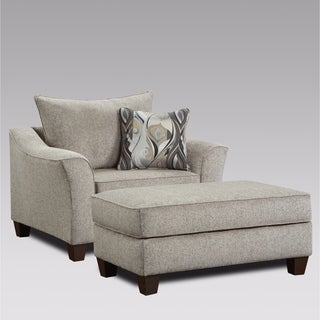 Camero Contemporary Fabric Accent Chair and Ottoman Set