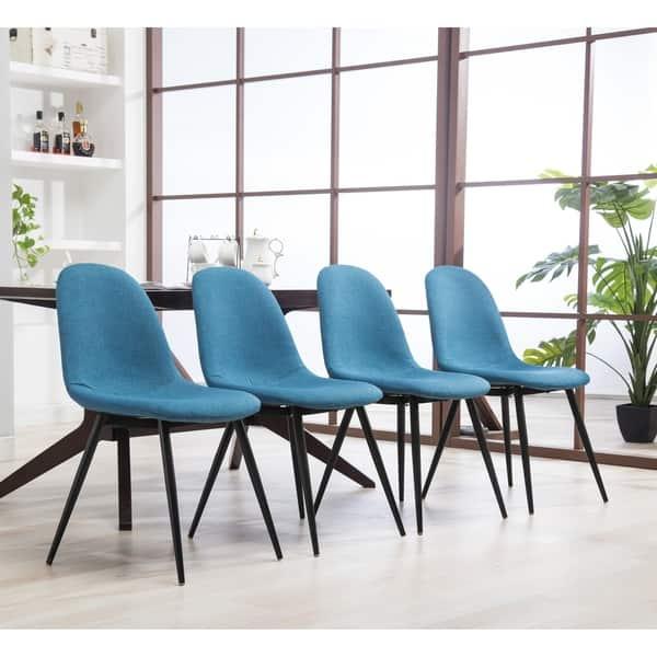 Fine Shop Lassan Modern Contemporary Fabric Dining Chairs Set Of Inzonedesignstudio Interior Chair Design Inzonedesignstudiocom