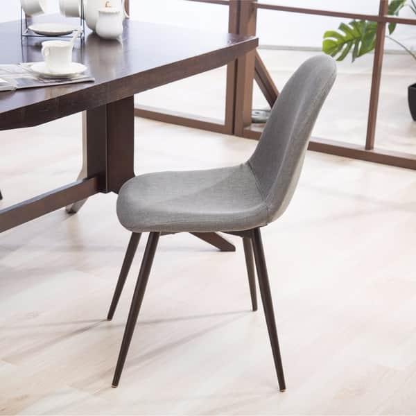 Remarkable Shop Lassan Modern Contemporary Fabric Dining Chairs Set Of Creativecarmelina Interior Chair Design Creativecarmelinacom