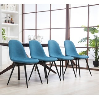 Lassan Modern Contemporary Fabric Dining Chairs, Set of 4