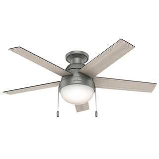 Hunter Fan Anslee Matte Silver Wood 46-inch 5-blade Ceiling Fan