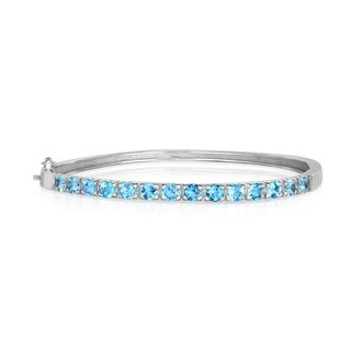 Noray Designs .925 Sterling Silver Blue Topaz (1.50 Ct) Bangle