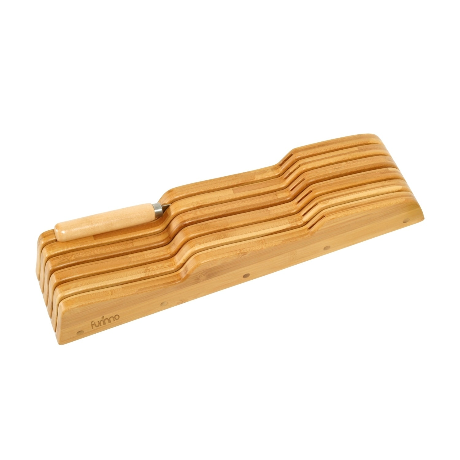 Furinno DaPur Bamboo In Drawer Knife Holder FK8717, Tan (...