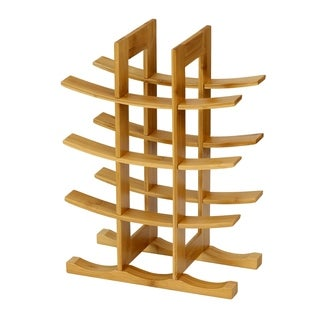 Furinno DaPur Bamboo 12-Bottle Wine Rack, FK9137