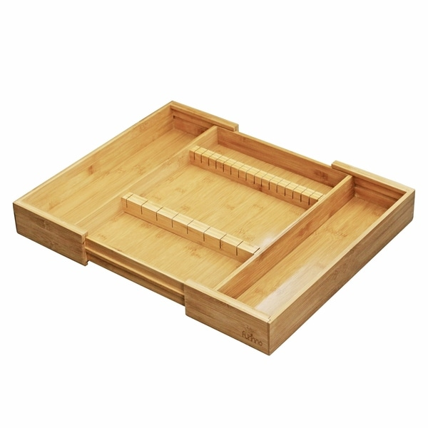 d41cb54d3f4 Shop Furinno DaPur Bamboo Expandable Drawer Organizer with Cutlery Storage  FK8720 - On Sale - Free Shipping On Orders Over  45 - Overstock - 18657450