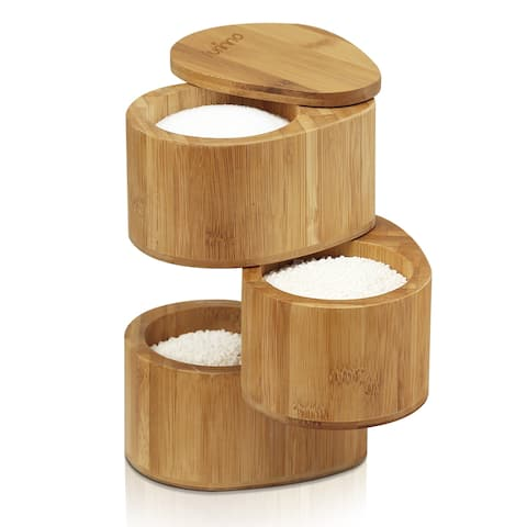 Furinno DaPur Bamboo 3 Tier Spice Can FK8942