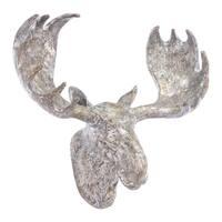 Moose Wall Decor Silver