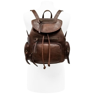 Bueno of California Faux Leather Phone Charger Backpack