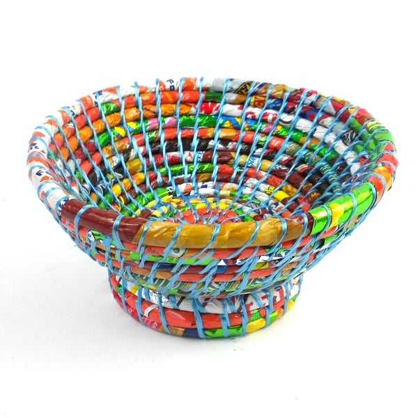 Handmade Recycled Small Bowl Blue (Nepal)