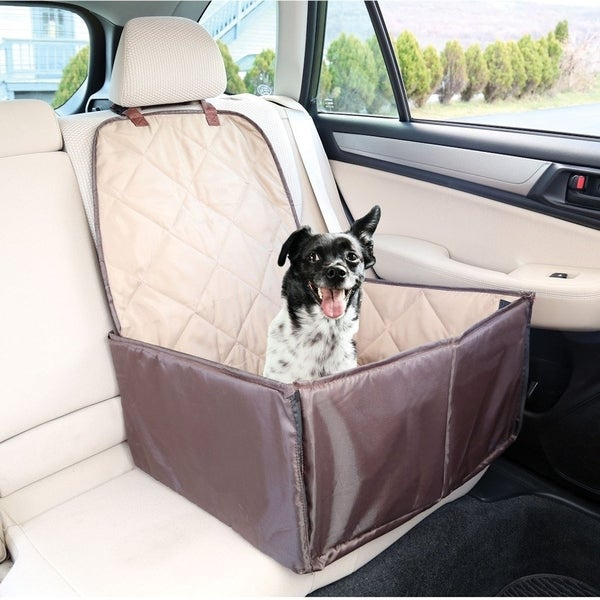 Pet Booster Seat >> Shop 2 in 1 Safety Pet Dog Booster Seat & Front Seat Cover For Dogs - Free Shipping On Orders ...