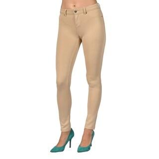 Womens Colored Stretch Leggings Pants Khaki
