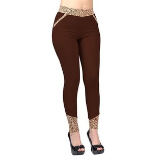 Jeggology Fashion Women Brown Leggings Brown