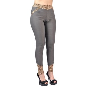 Jeggology Fashion Women Leggings Large Gray (3 options available)