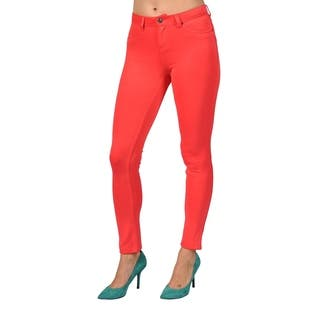 Womens Colored Stretch Leggings Pants Coral|https://ak1.ostkcdn.com/images/products/18657748/P24752479.jpg?impolicy=medium