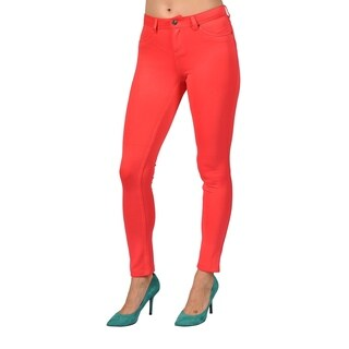 Womens Colored Stretch Leggings Pants Coral (3 options available)