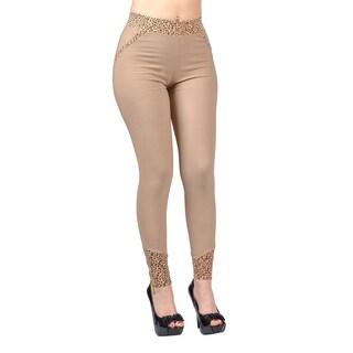 Jeggology Fashion Women Leggings Large Khaki