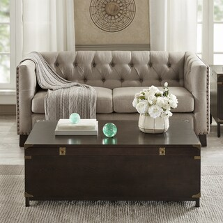 Madison Park Signature Voyager Brown Rectangle Storage Coffee Table