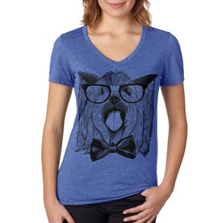 Womens Vintage Dorkie Yorkie T Shirt