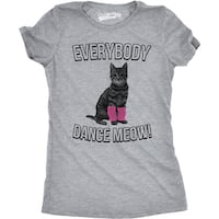 Womens Everybody Dance Meow Tee