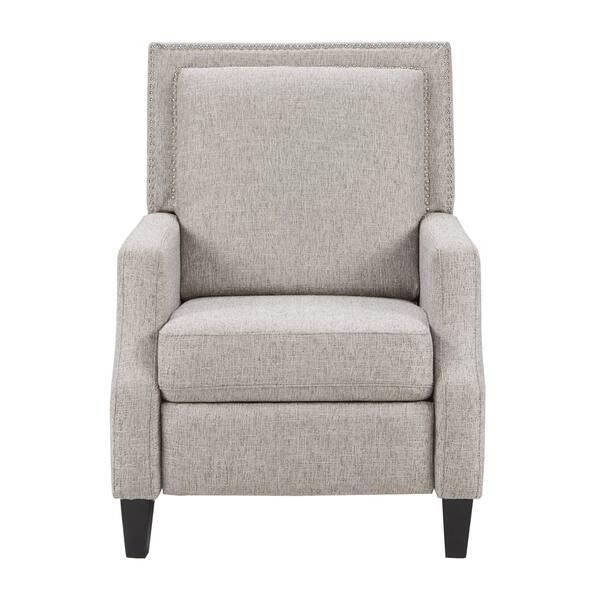 Marvelous Shop Madison Park Woodham Grey Fabric Recliner On Sale Machost Co Dining Chair Design Ideas Machostcouk