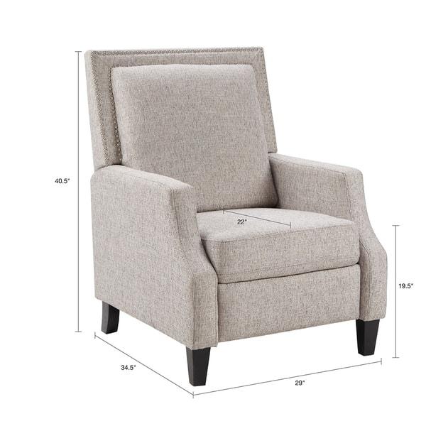 Surprising Shop Madison Park Woodham Grey Fabric Recliner On Sale Machost Co Dining Chair Design Ideas Machostcouk