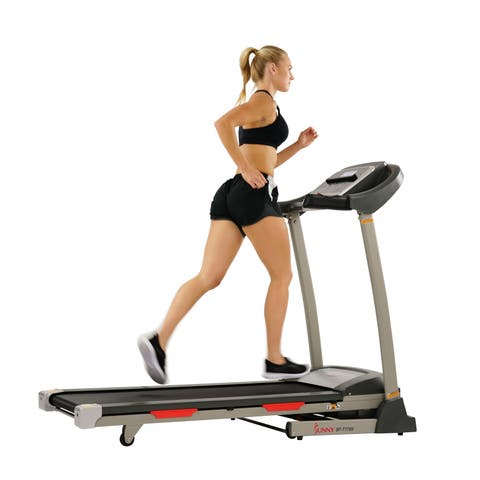 Sunny Health & Fitness Portable Treadmill with Auto Incline Smart APP