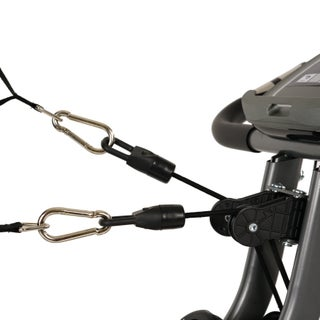 Sunny Health & Fitness Foldable Semi Recumbent Magnetic Bike w/ Pulse Monitoring, Arm Resistance Bands and LCD Monitor