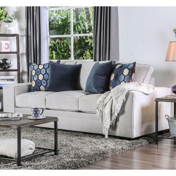 Shop Lenael Contemporary Light Grey Sofa By Foa Free
