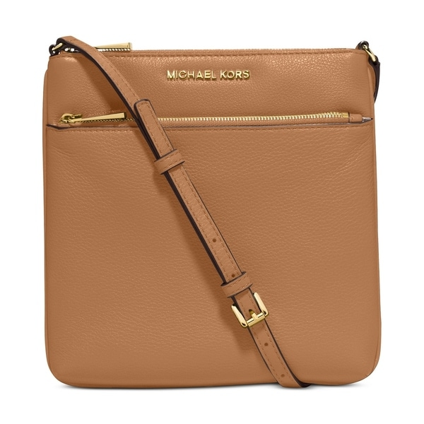 Shop MICHAEL Michael Kors Riley Small Flat Crossbody Acorn - Free ... 681e29b8106c1