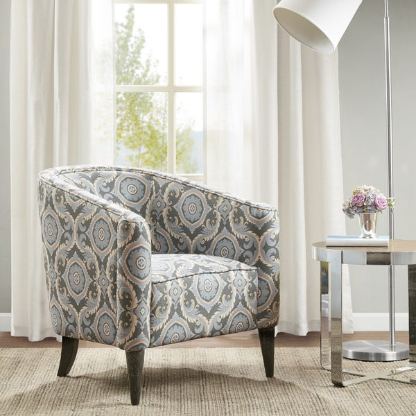 Shop Madison Park Morse Grey Upholstered Accent Chair