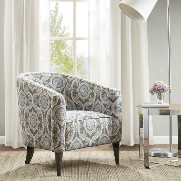 Madison Park Morse Grey Upholstered Accent Chair