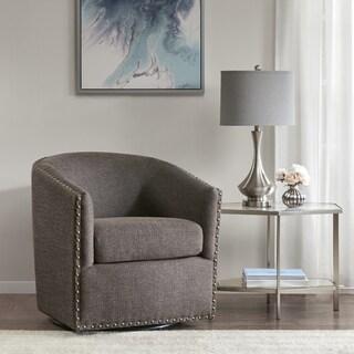 Madison Park Memo Chocolate Swivel Chair