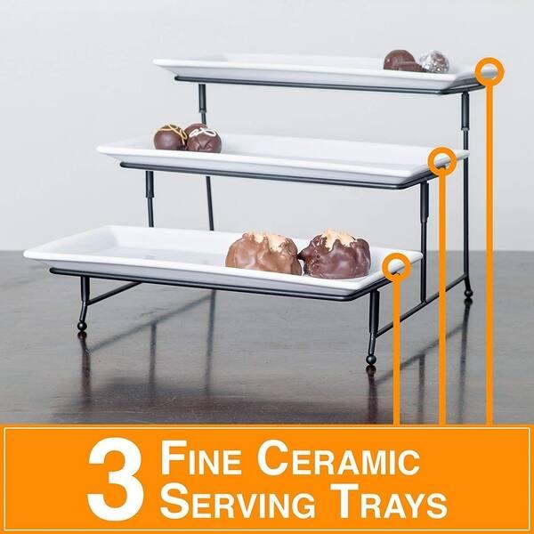 Porcelain 3 Tier Serving Tray