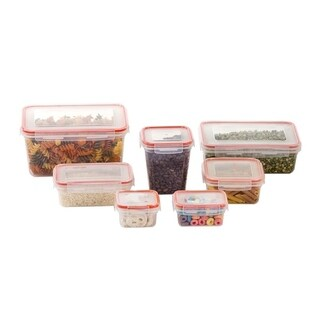 14-Piece Plastic Storage Containers - Container Set - BPA Free