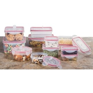24 Pc Reusable Plastic Food Containers