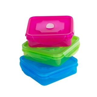 6 Piece Meal Prep Lunch Box Bento Box Lunch Container w/ Vented Lids