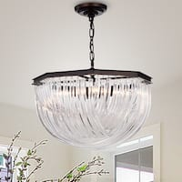 Warehouse of Tiffany Yukesi Curved Glass Rod 20-inch 4-light Pendant