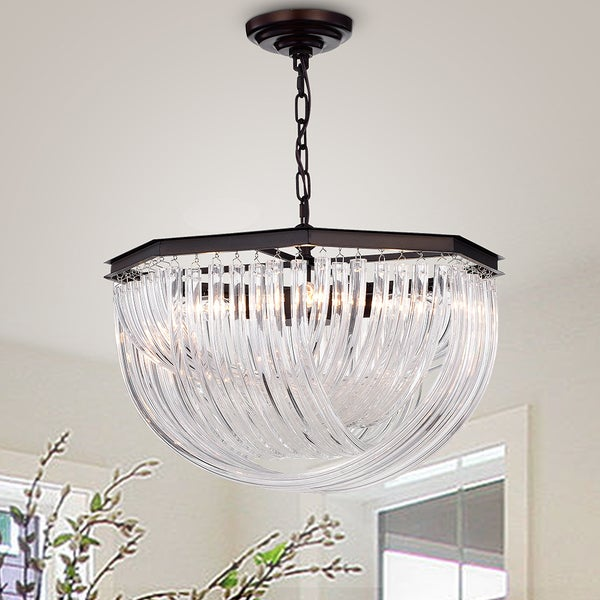 4 light pendant ellis warehouse of tiffany yukesi curved glass rod 20inch 4light pendant shop