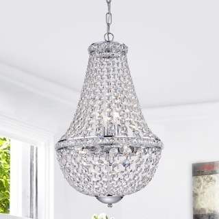 Link to Uanah 6-Light Crystal Chrome Chandelier Similar Items in Chandeliers